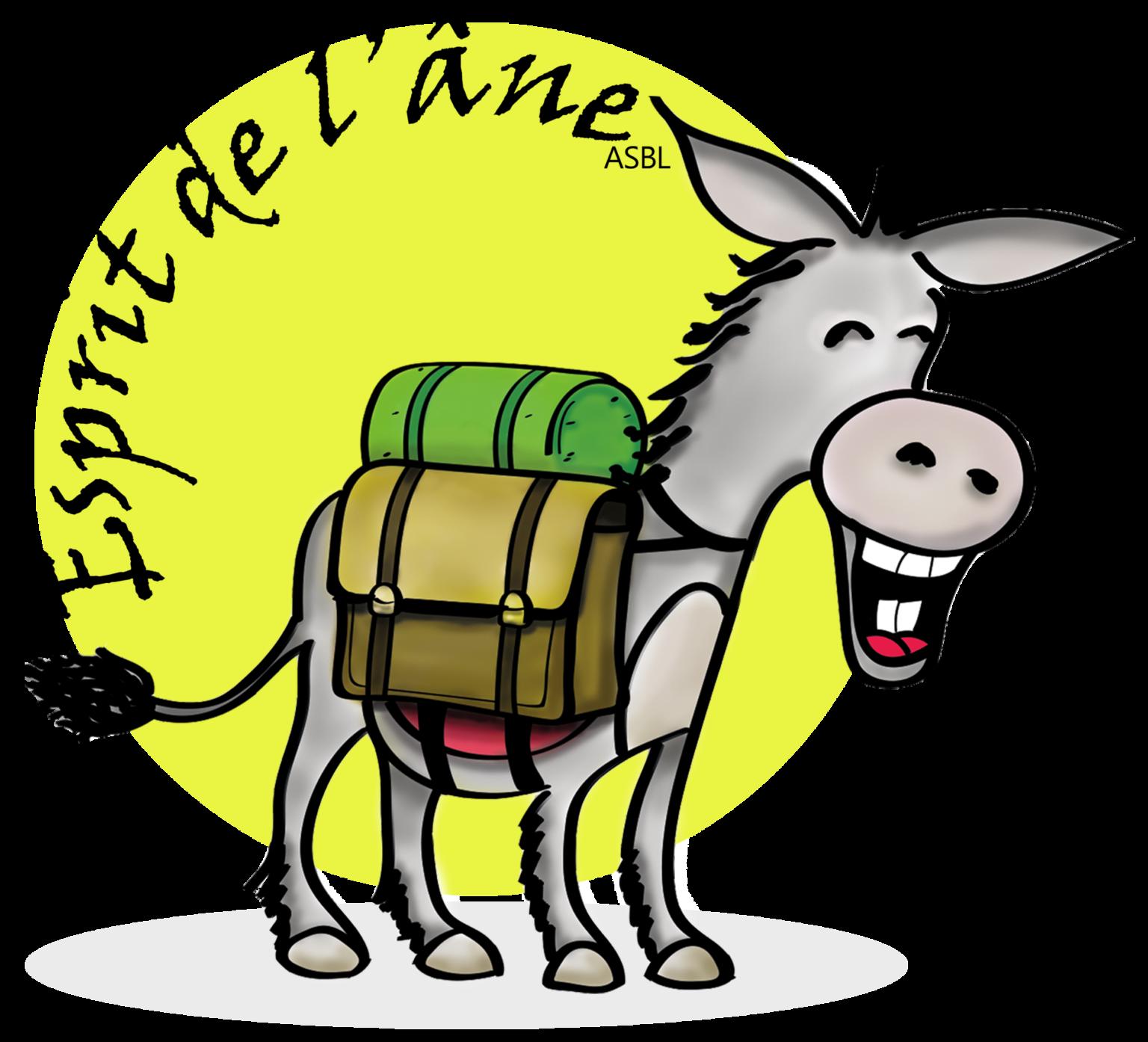 Esprit de l'âne asbl – Op stap met de ezels – te Mousny (La Roche-en-Ardenne)